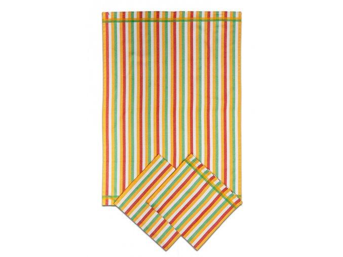 Utěrky bambusové - Pruh žlutý 50x70 cm 3ks