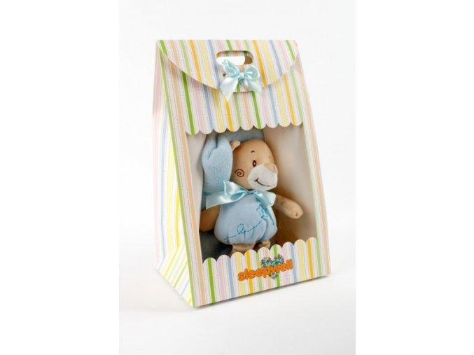 Dárkový set pro nejmenší SLEEP WELL® - MEDVÍDEK MODRÝ (deka+hračka)