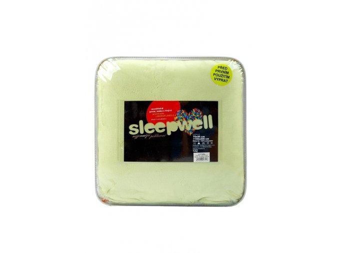 Povlečení mikroflanel SLEEP WELL® 70x90 cm + 140x200 cm - PISTÁCIE