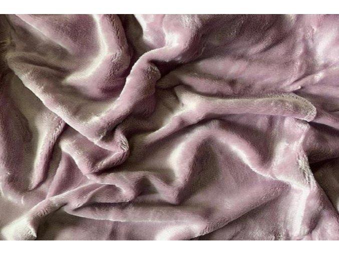 Prostěradlo mikroflanel SLEEP WELL® - 90x200 cm - zapudrovaná lila