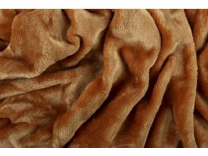 Prostěradlo mikroflanel SLEEP WELL® - 180x200 cm - okrová
