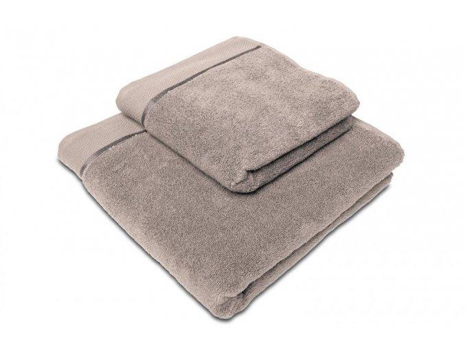 Osuška mikrobavlna SLEEP WELL® - 70x140cm - ŠEDOHNĚDÁ