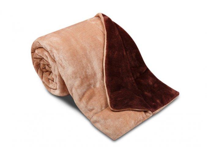 Deka Ester z mikrovlákna SLEEP WELL® - 150x200cm - ČOKO/TMAVĚ HNĚDÁ