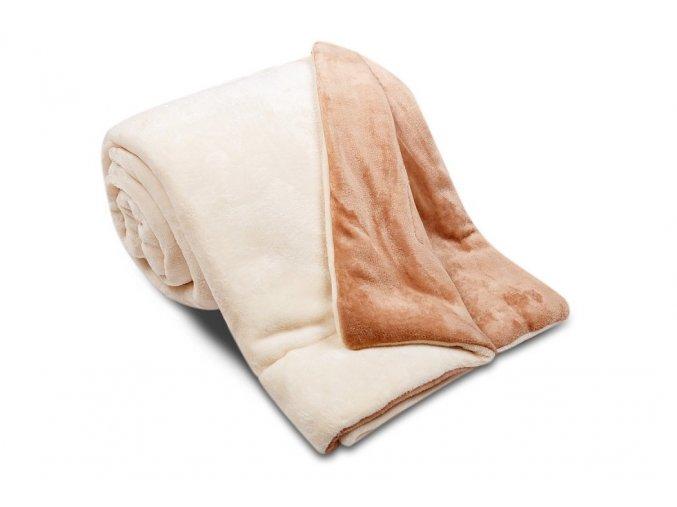 Deka Ester z mikrovlákna SLEEP WELL® - 150x200cm - ECRU/ČOKO