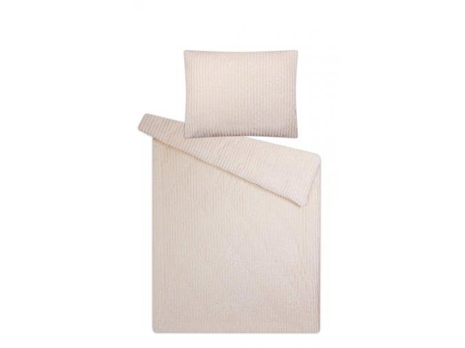 Povlečení mikroflanel SLEEP WELL® 70x90 cm + 140x200 cm - MANŽESTR ECRU