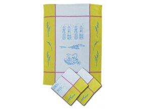 Utěrky žakárové extra savé 50x70cm 3ks - VINTAGE KHAKI