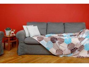 Deka z mikrovlákna SLEEP WELL® tisk 150x200cm - KIKKO MODRÁ