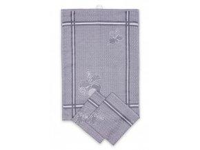Utěrky egyptská bavlna, žakárově tkaná ŘEDKVIČKY 50x70cm 3ks - ŠEDÁ