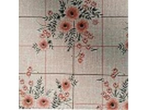 UBRUSOVINA PVC s textilním podkladem/PVC ubrus - vzor kytka oranžová