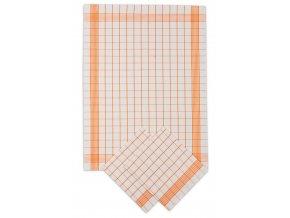 Utěrky bavlněné - Pozitiv bílo - oranžová 50x70 cm 3ks