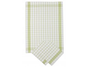 Utěrky bavlněné - Pozitiv bílo - zelená 50x70 cm 3ks