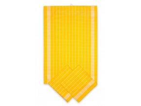 Utěrky bavlněné - Negativ žluto - bílá 50x70 cm 3ks