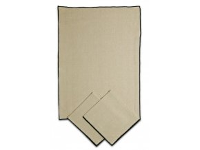 utěrky z REŽNÉ bavlny 50x70cm 3ks OBŠITÉ ČERNĚ