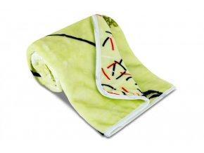 Dětská deka z mikrovlákna SLEEP WELL s potiskem - PAMPELIŠKA PISTÁCIE