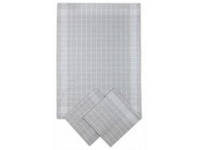 Utěrky bavlněné - Negativ světle/šedo - bílá 50x70 cm 3ks