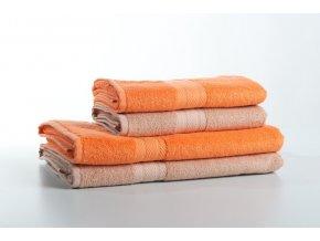 """Osuška bambus """"bamboolive"""" oranžová 70x140 cm"""