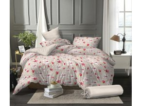 Povlečení mikroflanel na francouzskou postel MAGNOLIE - 2x70x90 cm + 200x240 cm, kolekce 2021