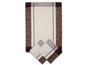 Utěrky egyptská bavlna ORNAMENTY 50x70cm 3ks - HNĚDÁ