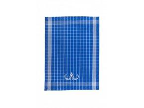 Utěrky Negativ s cibulákovým vzorem modré s bílou výšivkou 50x70 cm 3ks