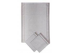 Utěrky bambusové Malá kostka šedá - 3ks 50x70 cm