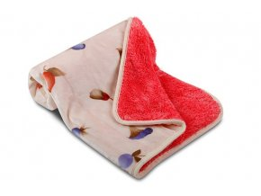 Dětská deka OVEČKA® 100x140 cm - LESNÍ PLODY s čokoládovým plyšem