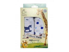 Látkové pleny - dárkové balení modré, 100% bavlna, 2 kusy