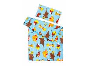 Dětské povlečení bavlna KREP - 45x65 cm + 135x90 cm