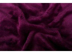 Prostěradlo mikroflanel SLEEP WELL® - 90x200 cm - tm.fialová