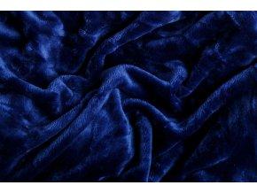 Prostěradlo mikroflanel SLEEP WELL® - 90x200 cm - tmavě modrá