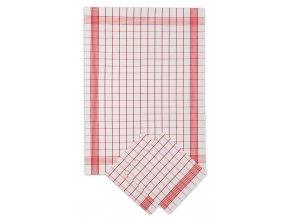 Utěrky bavlněné - Pozitiv bílo - červená 50x70 cm 3ks