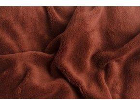 Prostěradlo mikroflanel SLEEP WELL® - 180x200 cm - hnědá