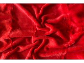 Prostěradlo mikroflanel SLEEP WELL® - 90x200 cm KIKKO červené