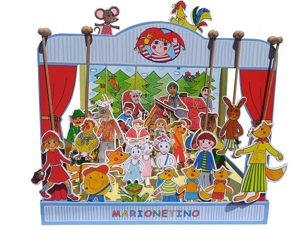 loutkove divadlo 30 loutek marionetino