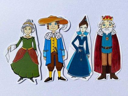 Loutky pro děti Král, Princ, Královny (2)