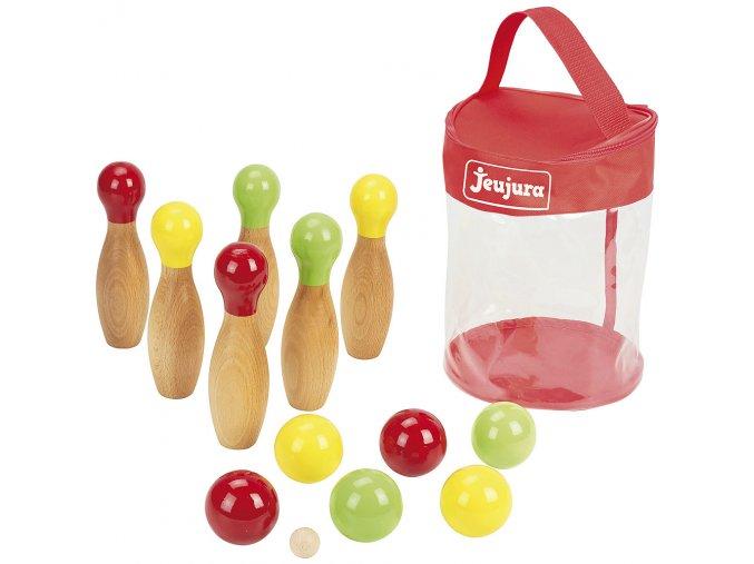 Jeujura Dřevěný petanque a bowling