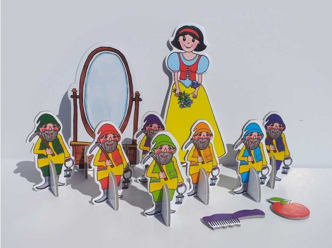 snehurka a sedm trpasliku loutky marionetino (6)