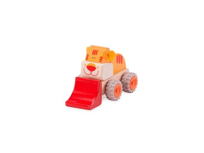 Wonderworld Dřevěný mini nakladač tygřík