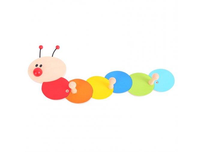 Bigjigs Toys Věšáčky housenka