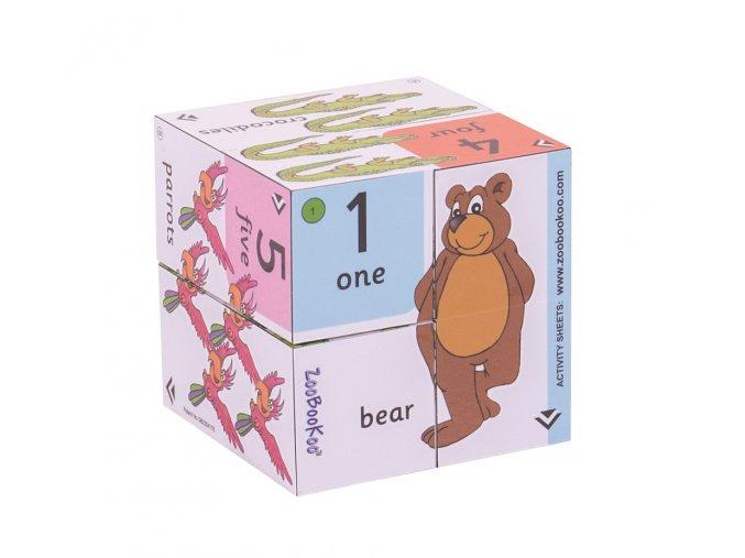 Zoobookoo Kniha v kostce Přiřaď čísla k obrázku