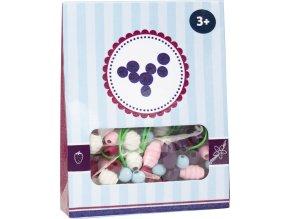 Small Foot Dřevěné korálky Candy 1ks fialová Small Foot Dřevěné korálky Candy 1ks fialová