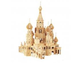 Woodcraft Dřevěné 3D puzzle kostel Petersburg