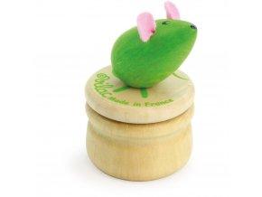 Vilac Dřevěný box na zoubky Myška zelená Vilac Dřevěný box na zoubky Myška zelená
