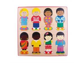 Bigjigs Toys Vkládací puzzle kamarádi