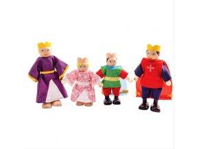Bigjigs Toys Dřevěné postavičky královská rodina