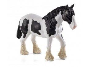 Mojo Animal Planet Clydesdale kůň černobílý