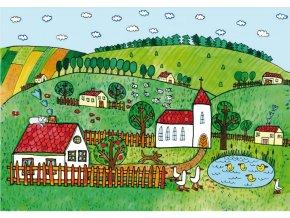 Vesnice - pozadí