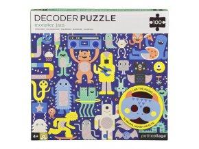 Petitcollage Puzzle příšerky 100 ks s 3D brýlemi