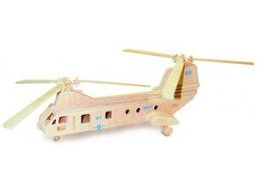 Woodcraft Dřevěné 3D puzzle transportní vrtulník