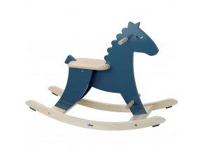 Vilac Dřevěný houpací kůň modrý