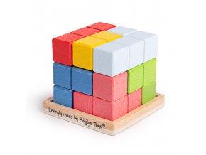 Bigjigs Toys Dřevěná skládací kostka
